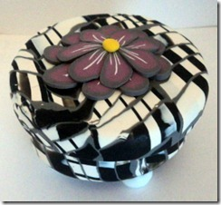 round black and white box side view