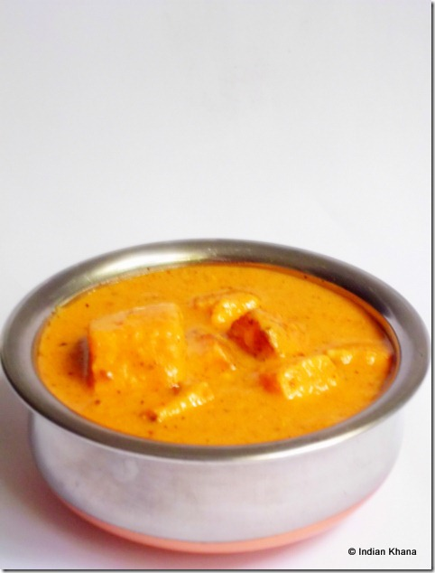 Paneer Butter Masala restaurant style recipe