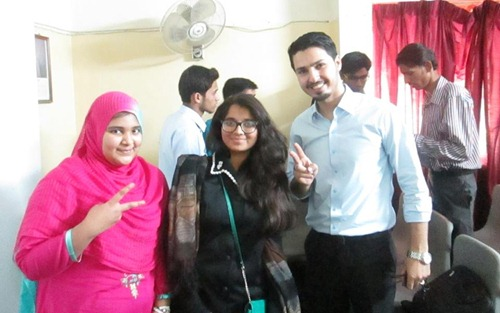 Mohammad with sisters from beacon light academy