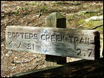 01 - Porters Creek Trail Sign