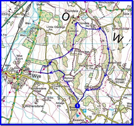 Our route - 10km,300 metres ascent, 2.5 hours