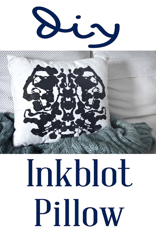 Make your own inkblot pillow!
