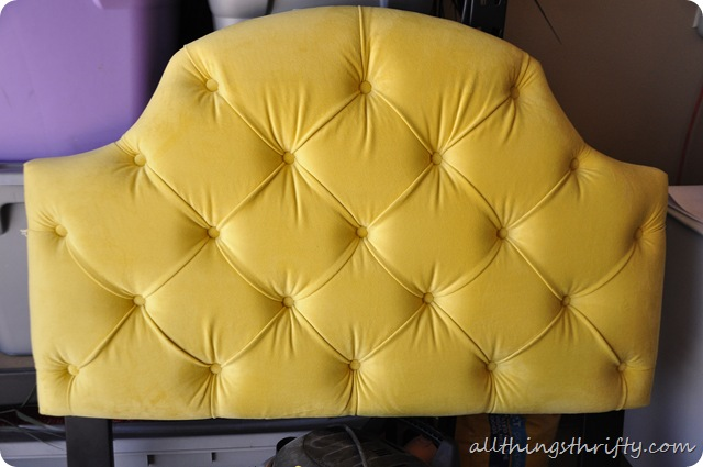 yellow tufted headboard ?love?, Headboard designs