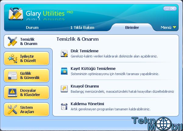 Glary Utilities Pro v5.6.0.13 Full Türkçe