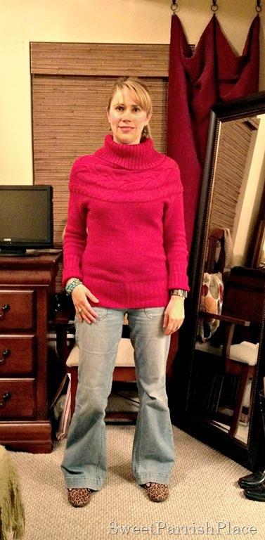 redsweater leopard flats
