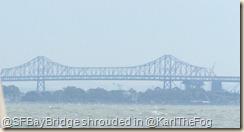 bay bridge in the fog
