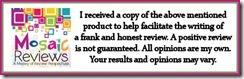 Mosaics Review Disclaimer