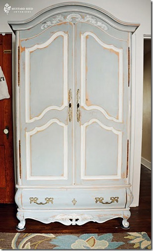 annie sloan chalk paint armoire paris gray and louis blue