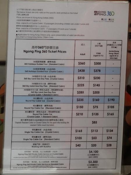 Lista preturi teleferic Lantau.JPG