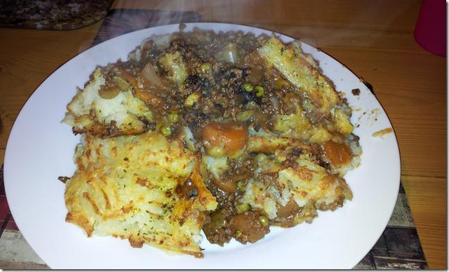 A Lovely Belly Full Of Shepherds Pie