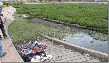 Humedal Jaboque. Basuras y adoquinamiento