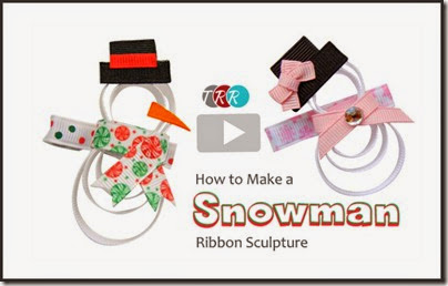 How-To-Make-A-Snowman-Ribbon-Sculpture