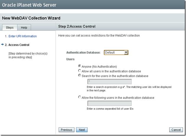 iPlanet-WebDav-Configuration-Wizard-Security