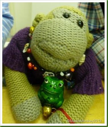 Plastic frog ornamament