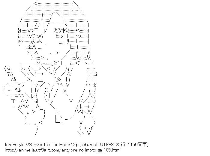 [AA]新垣あやせ 料理 (俺の妹がこんなに可愛いわけがない)