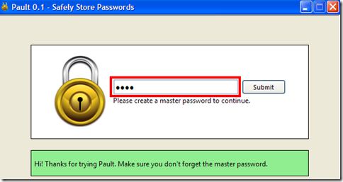 Pault settare la master password