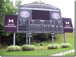 2011-08-05 Williamsport PA Little League scoreboard