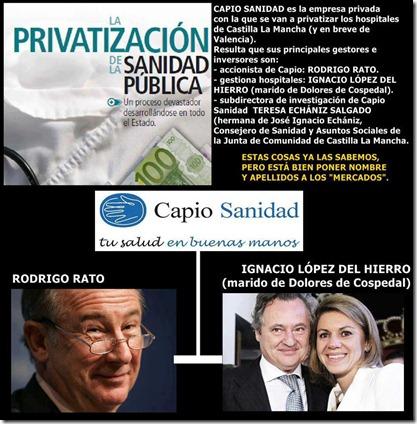 Capio Sanidad - Supuestos cargos y accionistas relacionados con el PP