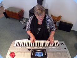 Barbara McNab played Peter Brophy's Yamaha PSR-910