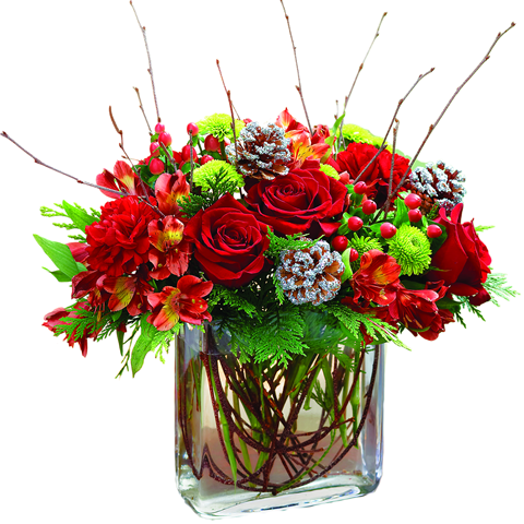 Christmas Flower Arrangements | Casual Cottage