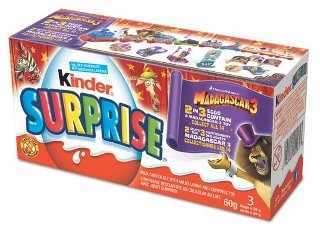 Kinder Surprise Specially Marked Madagascar 3 Treats