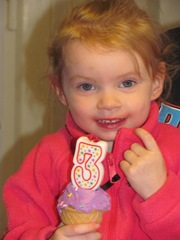 3rd birthday Bella 2013 Bellz w cupcake1