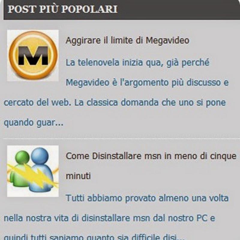 Come personalizzare il widget dei post più popolari in Blogger.