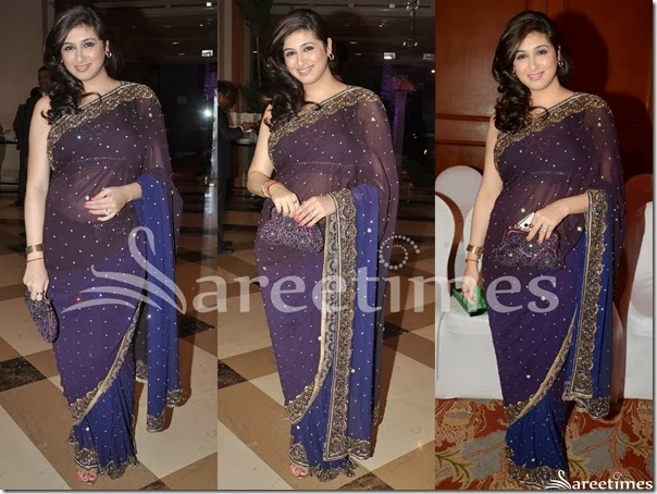 Black_and_Blue_Embrodiery_Saree