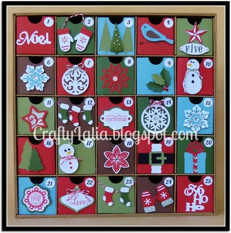 Advent Calendar with CTMH Artiste and Art Philosophy Cricut CraftyLalia