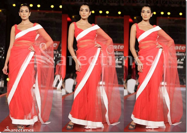 Manish_Malhotra_Red_Net_Saree