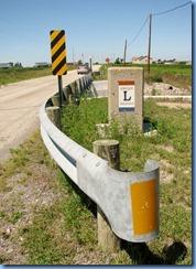 3979 Ohio - Lincoln Highway - dead end - 1930 concrete bridge - concrete pillar with ceramic Lincoln Highway plaque