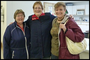Lois Aspvik, Paddockwood Congregation.  Linda Klughart & Lois Simpson,