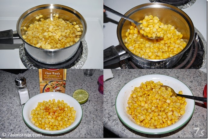 Corn chaat process