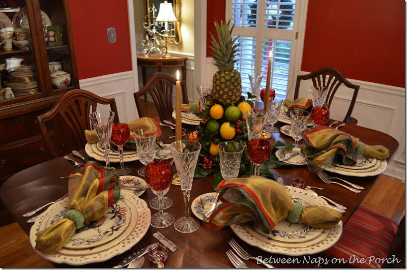 Colonial Williamsburg, Christmas Table settings, Tablescape