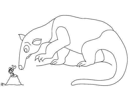 Un oso hormiguero para colorear - Imagui