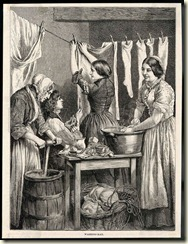 Doing the laundry. Date 1875.