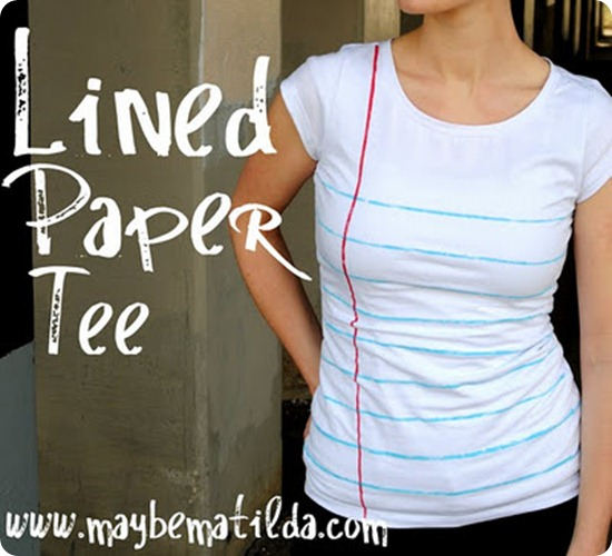 lined paper tee tutorial
