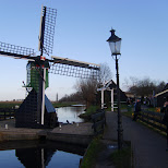 small windmill at the zaanse schans in zaandam in Zaandam, Noord Holland, Netherlands