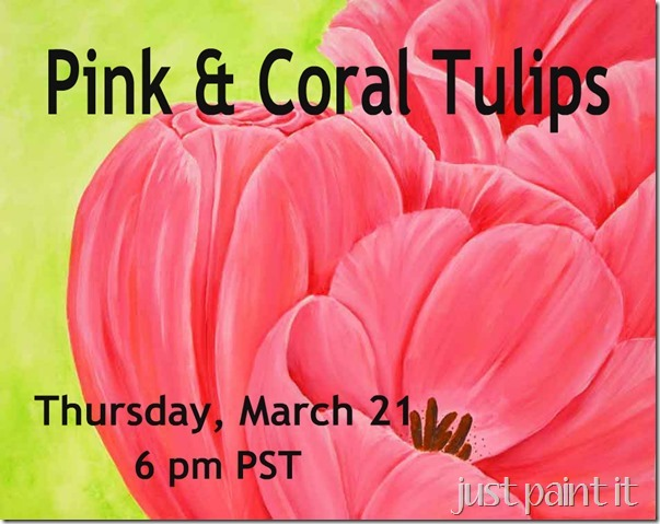 Pink-&-Coral-Tulips Class