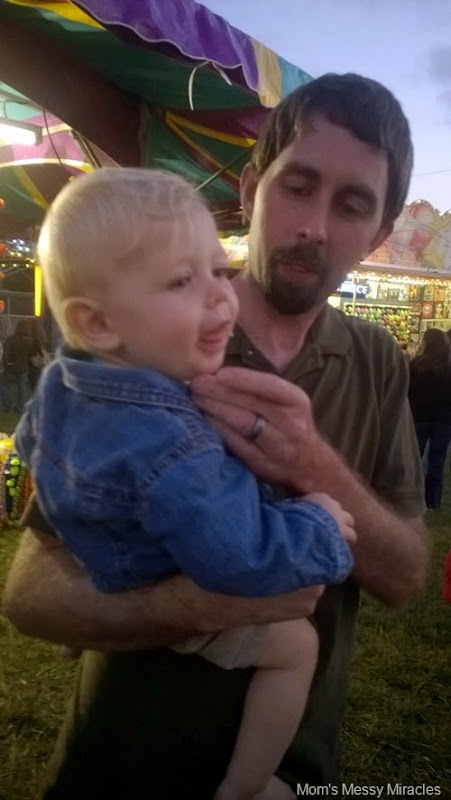 Owen and Daddy at carnival