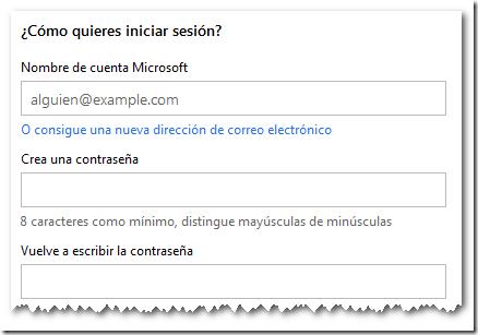 ¿Cómo quieres iniciar sesión?, Creando una Cuenta Live | Microsoft SQL 2012 Free