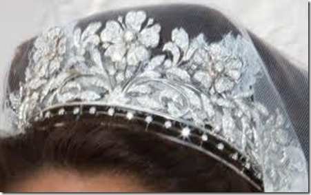 Diamond Floral Tiara Close-up
