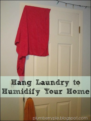 Hang Laundry to Humidify Your Home