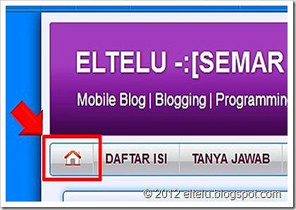 ELTELU - Tampilan Tombol Home Pada Tab Menu Standar Blog