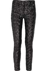 Karl Sequined legging-style pants