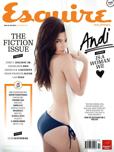 Andi Eigenmann covers Esquire Ph Nov 2012