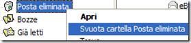 Outlook Express Svuota cartella Posta eliminata