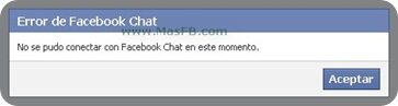 Error de Facebook Chat