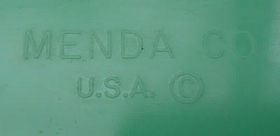 aqua blue plastic cotton ball holder by Menda imprint