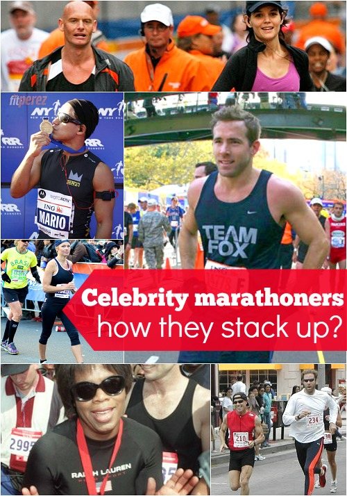 Celebrity marathon finishers - how do they stack up and why do we care about Oprahs time so much